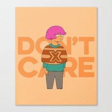 Ms. No Care Canvas Print
