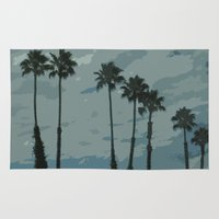palms Area & Throw Rugs featuring Palms by Amanda Bates