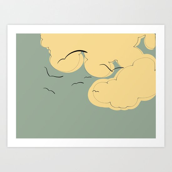 The Yellow Clouds Art Print