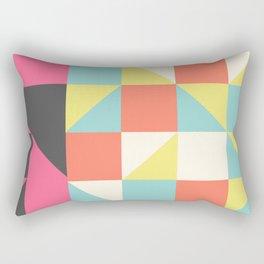 Abstract Aztec Pattern Rectangular Pillow