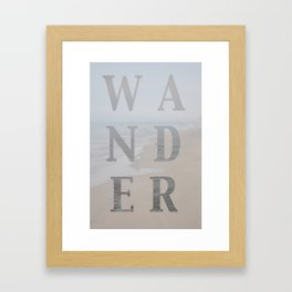 Wandering Framed Art Print