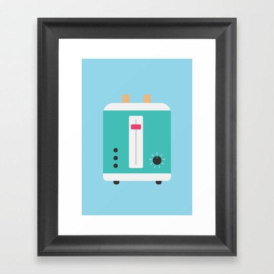#82 Toaster Framed Art Print