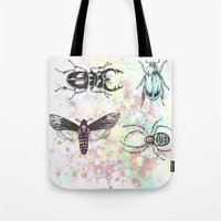 bugs Tote Bags featuring Bugs! by Maria Enache