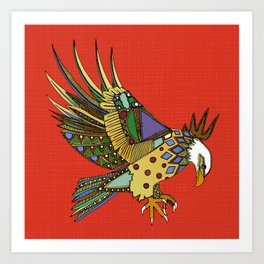 jewel eagle fire Art Print