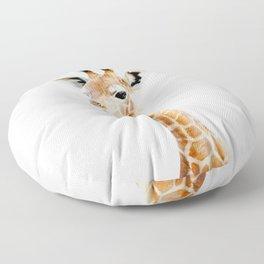 Baby Giraffe Portrait Floor Pillow