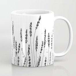 Black Lavender Flowers Coffee Mug