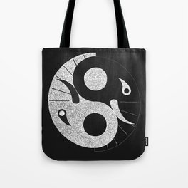Ebony and Ivory (Inverse) Tote Bag