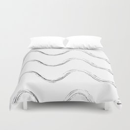 Slither Black #480 Duvet Cover