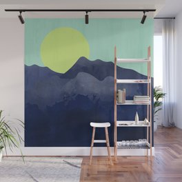 Sunset Mountain Wall Mural