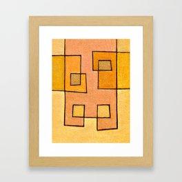 Protoglifo 04 'yellow hugging pink' Framed Art Print