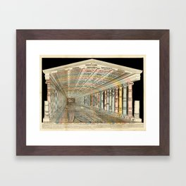 """Temple of Time"" by Emma Willard, 1846 Framed Art Print"
