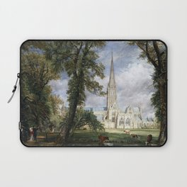 John Constable Salisbury Cathedral from the Bishop's Garden Laptop Sleeve