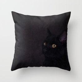 Black Cat - Prince Of Darkness Throw Pillow