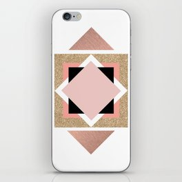 Carré rose iPhone Skin