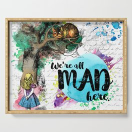 Alice in Wonderland - We're All Mad Here Serving Tray