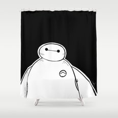 Baymax from Big Hero 6 Shower Curtain
