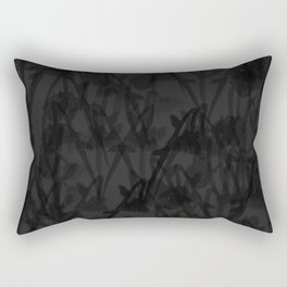 Gloomy Grey Gardens Rectangular Pillow