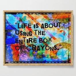 Crayon Box 2 Serving Tray
