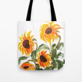 sunflower watewrcolor 2018 Tote Bag