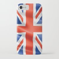 british flag iPhone & iPod Cases featuring UK / British waving flag by GoodGoods