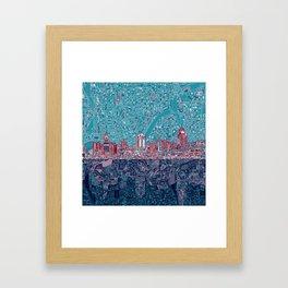 cincinnati city skyline Framed Art Print