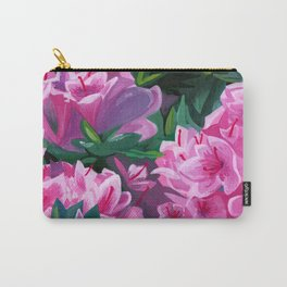 Pink Watercolor Floral Carry-All Pouch