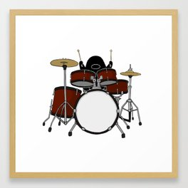 Playing The Drums Framed Art Print