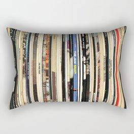 Classic Rock Vinyl Records Rectangular Pillow