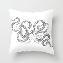 SNAKE HIPS Throw Pillow