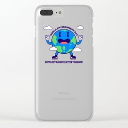 World Environment Day Clear iPhone Case