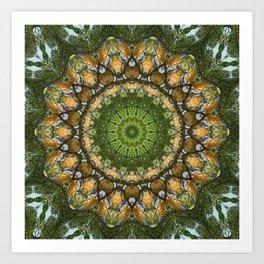 Yellow Tree Flower Kaleidoscope Art 3 Art Print
