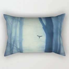 waning lines - trees in fog Rectangular Pillow