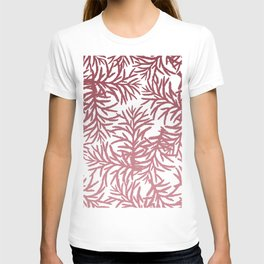 Hand Painted Pink Gradient Pine Tree Pattern T-shirt