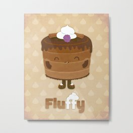 Fluffy Chocolate Mousse Cake Metal Print
