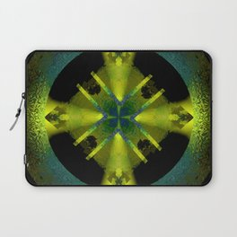 Spinning Wheel Hubcap in Lime Green Laptop Sleeve