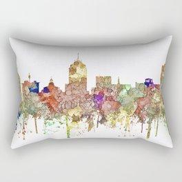 Fresno, California Skyline - Faded Glory Rectangular Pillow