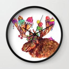 Chocolate Moose Wall Clock