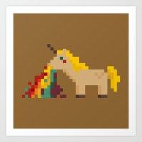 unicorn Art Prints featuring unicorn by MariMari
