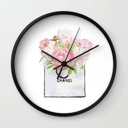 Flowers bag Wall Clock