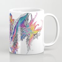 psych Mugs featuring Psych by Sushibird