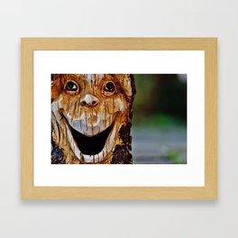 human face Framed Art Print