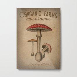 Red Cap Mushroom Metal Print