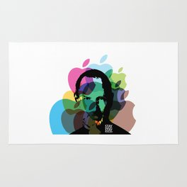 Lab No. 4 - Steve Jobs Inspirational Typography Print Poster Rug