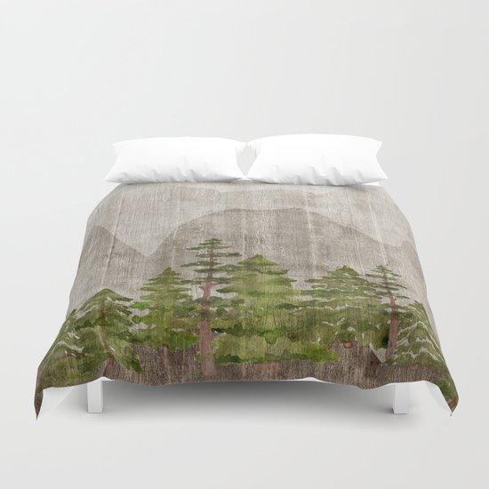 Mountain Range Woodland Forest by cateandrainn