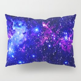 Fox Fur Nebula Galaxy blue purple Kissenbezug