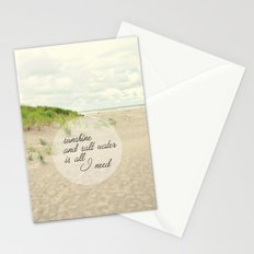 sunshine and salt water Stationery Cards