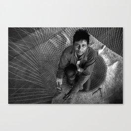 Fish Trap Maker Canvas Print