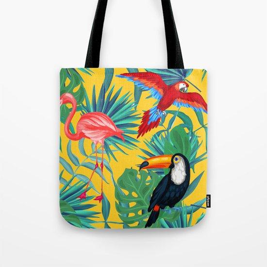 tropical yellow Tote Bag