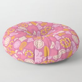 Pink Snack Attack Floor Pillow