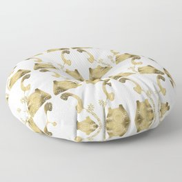Vintage Rotary Phone – Gold Palette Floor Pillow